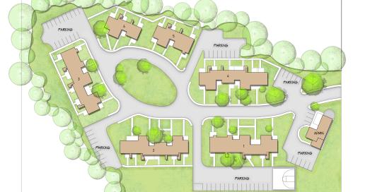 Needham Cook Circle Site Plan